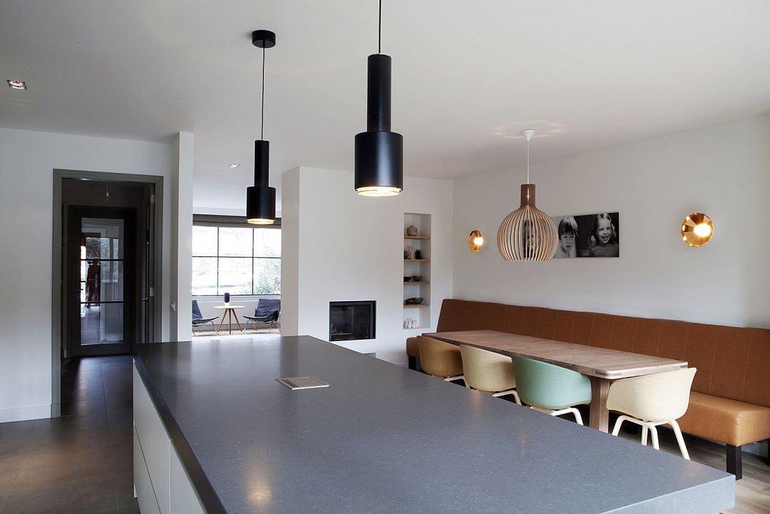 Verbouwing inclusief uit en opbouw jaren 39 50 huis for Moderne verlichting eetkamer