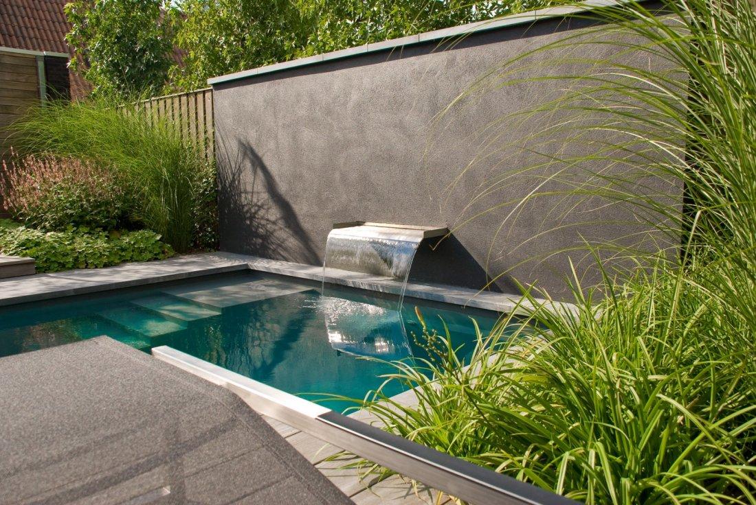 Bourgondische tuin met zwembad for Tuin met zwembad