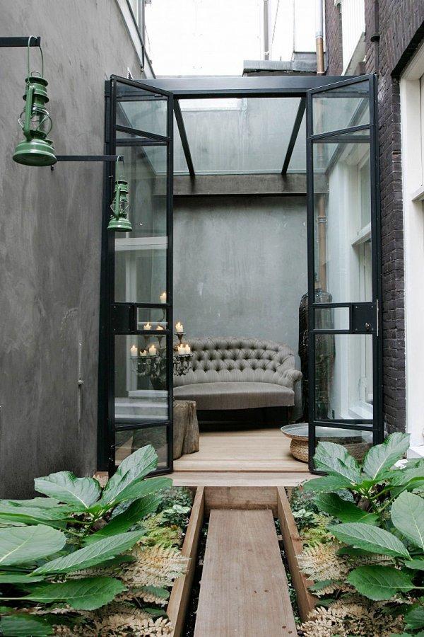 Stadsterras - Landscaping modern huis ...