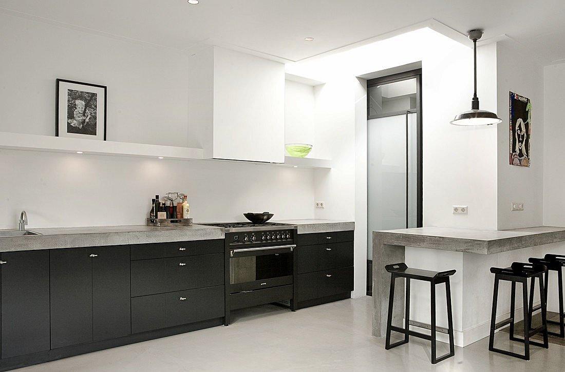 Moderne kamer en suite kamer en suite 3 0 - Woonkamer en moderne keuken ...