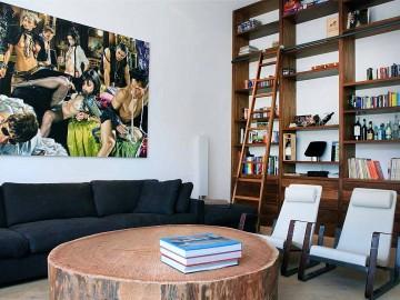 Interieur inspiratie in de stijl karakteristiek - Eigentijdse woonkamer decoratie ...