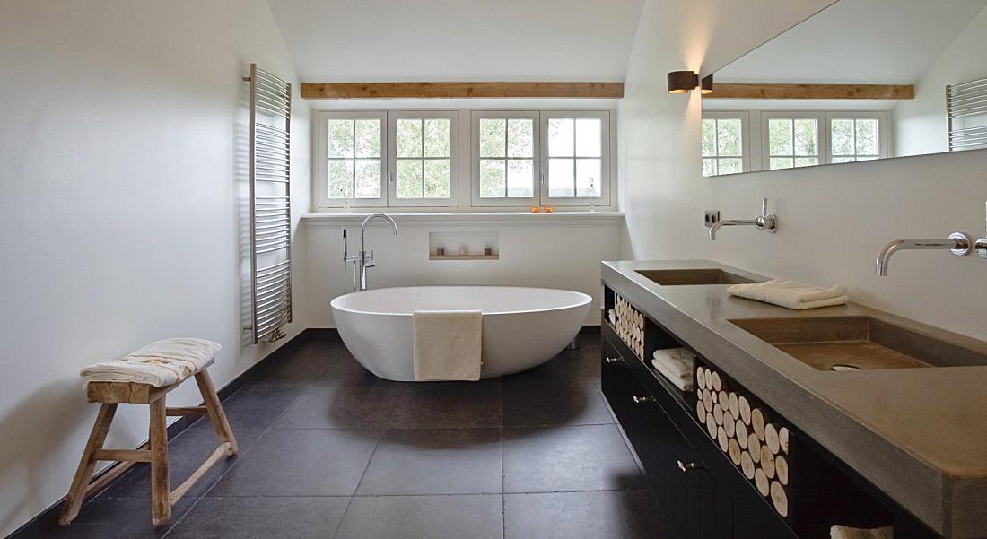 Landelijke badkamer for Landelijke interieur ideeen
