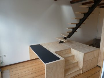 Appartement trapblok verbouwing interieur Amsterdam