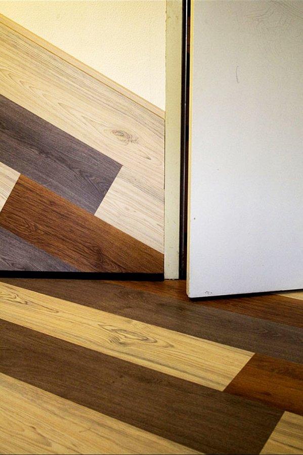 Van dik hout zaagt men planken - laminaat tot op de muur - walhalla ...
