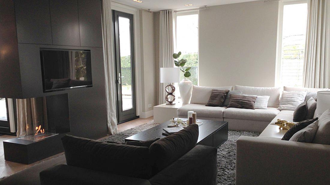 Moderne nieuwbouw villa - Stijl eengezinswoning ...