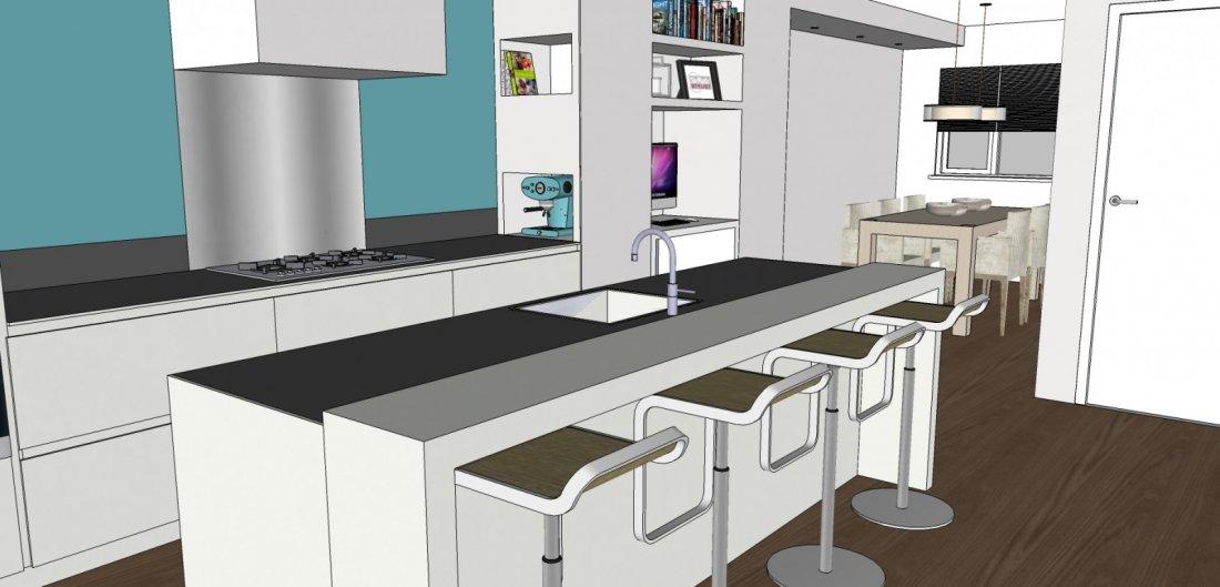 3D Ontwerp Woonkamer & Keuken - walhalla.com