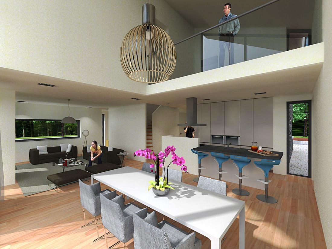 Eigentijdse woning - Foto eigentijdse keuken ...