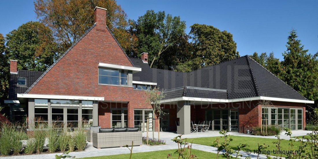Nieuwbouw landhuis modern landelijk for Modern landhuis